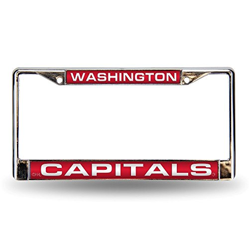 Rico Industries NHL Washington Capitals Laser Cut Inlaid Standard Chrome License Plate Frame