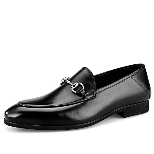 Shoes Herbst Schwarzbraun Dress Rutschen C Hochzeit Mode Business Leather Men's Casual IxqBtwzEq6