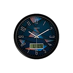 14 Kaleidoscope Design Morden Metal Round Wall Clock Black Frame With Electronic Signs