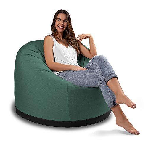Jaxx Palmetto Large Round Outdoor Bean Bag Club Chair - Sunbrella Breeze