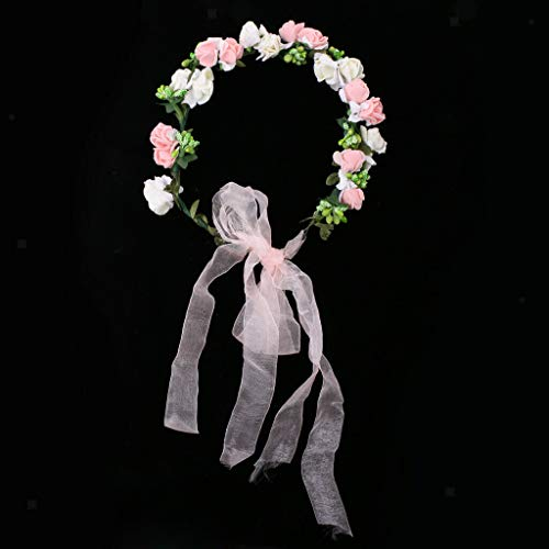 Wedding Party Floral Flower Garland Forehead Wreath Hair Accessories Costume | Color - Multi (Metro Womens Blazer Style)
