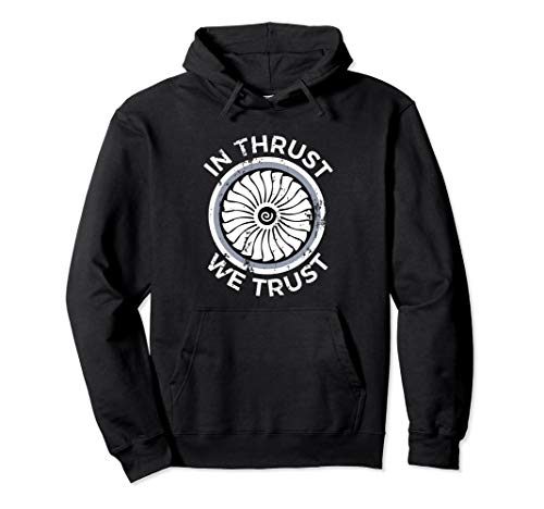 Hoody Youth Corporate - In Thrust We Trust Airplane Jet Engine RC Pilot Flying Gifts Pullover Hoodie