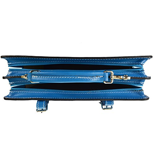 In Italy D7006 Briefcase Unisex's Cm Business Bag Leather Italian Heavenly Made Ctm 35x25x12 Genuine Organizer PvXqBvx
