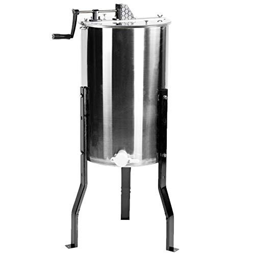 VIVO New Large Two 2 Frame Stainless Steel Manual Crank Bee Honey Extractor SS Honeycomb Spinner Model (BEE-V002)