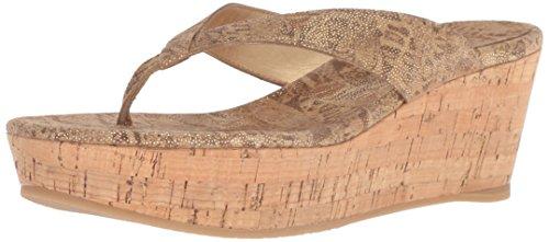 (Stuart Weitzman Women's Clasp Tan Nairobi Patch Sandal 11 M)