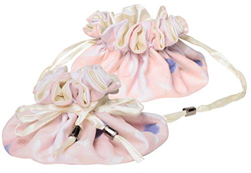 C.R. Gibson Women's Soft Pink Cotton and Satin Drawstring Travel Jewelry Pouch, 6