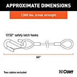 CURT 80176 44-Inch Nylon-Coated Trailer Safety