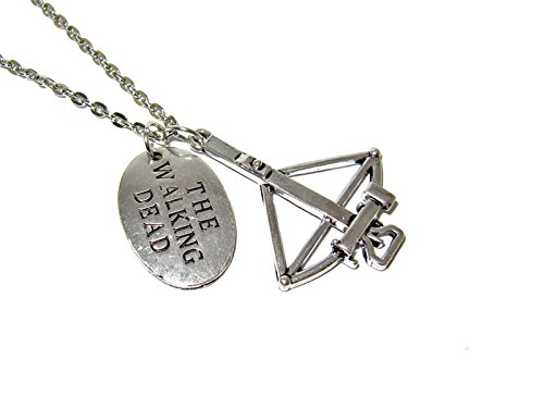 QueenGEEK The Walking Dead Daryl Dixon Crossbow Pendant Necklace US SELLER