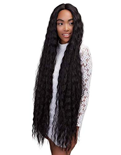 Janet Collection Extended Part Deep Swiss Lace Front Wig - SUPER DEEP (1B)