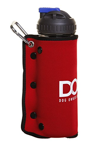 DOOG – Dog Owners Outdoor Gear Doog 3-in-1 Water Bottle Plus Drink Insulator Plus Dog Water Bowl, Red