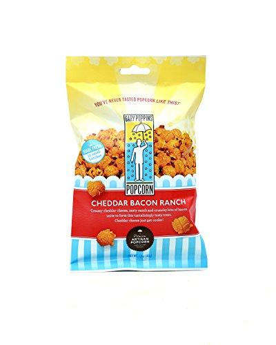 Gary Poppins Popcorn - Gourmet Handcrafted Flavored Popcorn - Cheddar Bacon Ranch (1.6oz) - 10 (Sugar Free Assorted Chocolate)