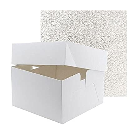 "Birthdays 10 x 8/"" White Square Cake Boards 1.5mm Thick Wedding"