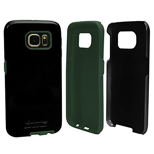 Guard Dog Hybrid Scratch Resistant Armor Case with Screen Protector for Samsung Galaxy S6 - Black with Pine Green Trim