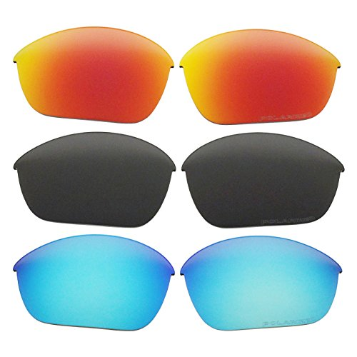 3 Pairs Polarized Replacement Sunglasses Lenses for Oakley Half Jacket 2.0 with Excellent UV Protection