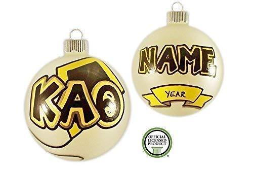 Customizable Kappa Alpha Theta Christmas Ornament