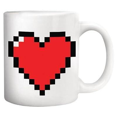 Kikkerland Pixel Heart Morphing Mug