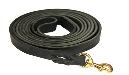 Dean and Tyler Braided Track Dog Leash with Solid Brass Hardware, 33-Feet by 3/8-Inch, Black by Dean & Tyler