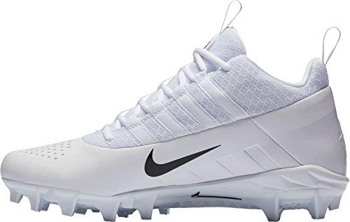 Nike Menns Alfa Huarache 6 Pro Lacrosse Cleats Oss) Hvit / Svart