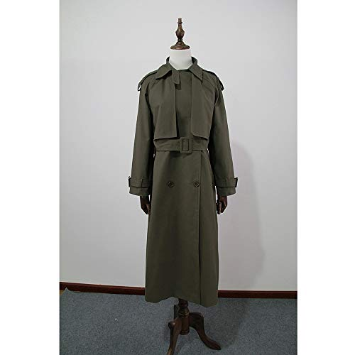 Zjewh vent Avec Double Trench breasted Casual coat Vert Ceinture Femme Manteau Automne Coupe Militaire rvgqr