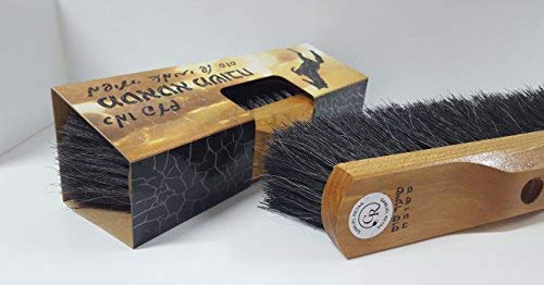 GAMLIEL RETAIL Broom Head, Made Pure Horse Hair Floor Brush Sweeper 11.80'' x 3.15'' x 3.15'' inch, Natural Wooden Base Superior Horsehair Broom Like an Old time
