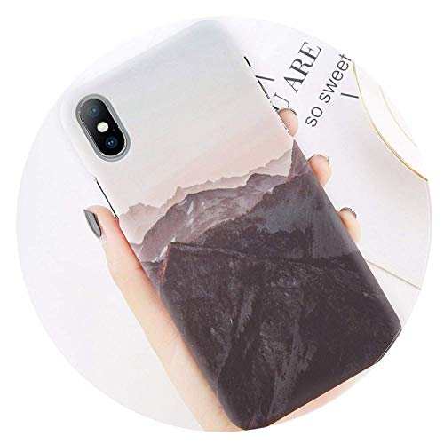 Phone Case for iPhone 8 7 Plus Mountain Peak Forest Back Cover for iPhone X XS XR XS Max 7 6 6S Plus Hard PC Cases Coque AC1042 for iPhone 7 Plus,AC1039,ForiPhoneXR
