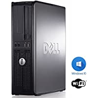 Dell Optiplex Desktop Computer 2.9 GHz Intel Core 2 Duo PC, 16GB, 250GB HDD, Windows 10 Home 64 bits,USB Mouse & Keyboard, WIFI (Certified Refurbished)