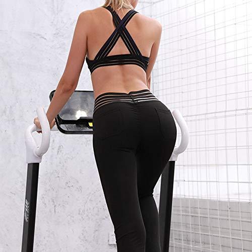 Ghette Leggings In Yoga Da Hight Sport Fitness Donne Donna Gli Allungare Vita Esecuzione Nero Pantaloni rwrq08F