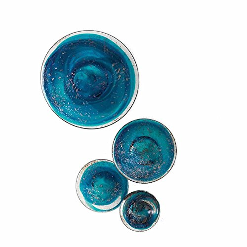 Luxury Colored Hand blown Glass Art plates Lighting