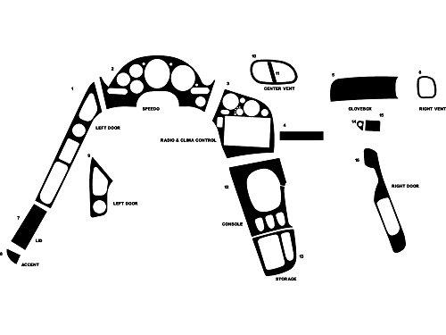 Rdash Dash Kit Decal Trim for Mazda RX-7 1993-1996 - Carbon Fiber 4D (Black)