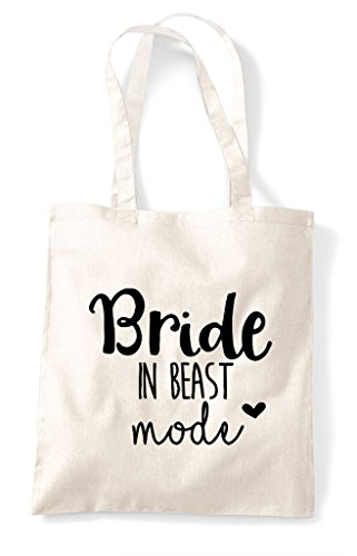 Bag Bride Wedding Statement In Natural Shopper Tote Beast Mode wBBYzx7Z