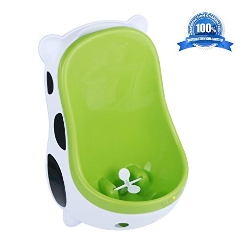 (Cute Cow Urinal Potty Training for Boys with Funny Aiming Target/Portable Toilet Training, Potty Urinal Pee Trainer Urine - Green)