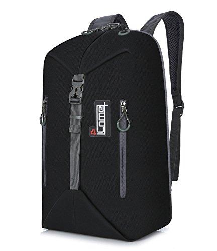 30L Men Waterproof Cool Travel Camping Hiking Packs Casual Backpack Daypack 17 Inch (Black)