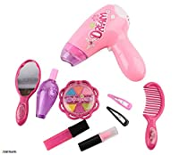 Memtes Girls Beauty Salon Fashion Play Set with Hair dryer, Mirror & Styling Accessories