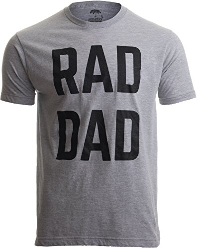 RAD DAD | Funny Cool Dad Joke Humor, Daddy Father's Day Grandpa Fathers T-Shirt-(Adult,L) Sport Grey