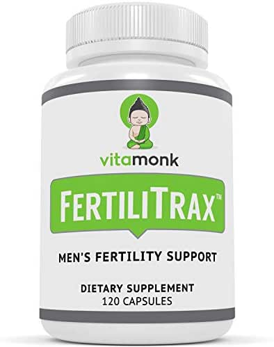 FertiliTrax™ Men's Fertility Support - Fertility Blend for Men by VitaMonk™ - Effective Natural Supplements Formula to Aid Healthy Fertility for Males - 120 Capsules - Natural Supplement