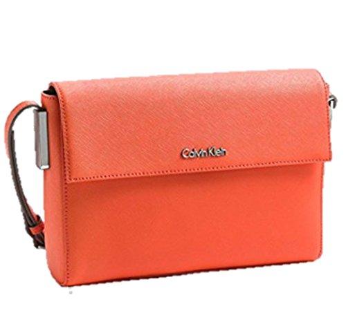 Calvin Klein White Label Scarlett Single Compartment Date Bag (Orange Fire)