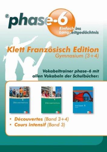 phase6 Klett Französisch Edition, Gymnasium 3+4: Einfach ins Langzeitgedächtnis (phase-6 auf CD-ROM)