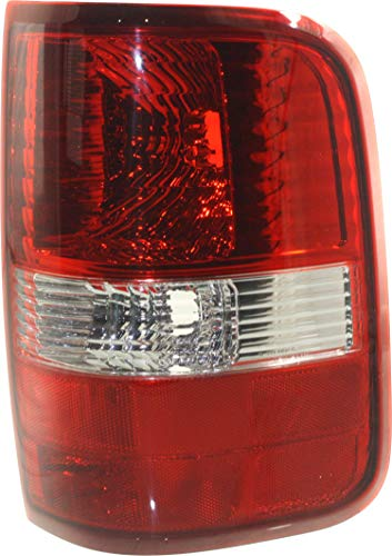 Tail Light Compatible with FORD F-150 2004-2008 RH Lens and Housing Red/Clear Styleside New Body Style