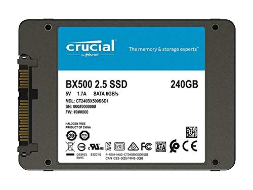 Crucial Bx500 240Gb Client Drive - 3D Nand Sata 2.5 Ssd