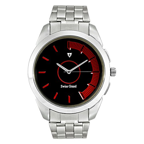 Swiss Grand SG 1162 Silver Coloured with Silver Stainless Steel Strap Analog Quartz Watch for Men