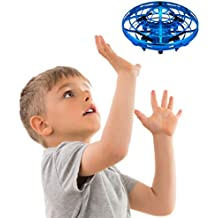 Mini Drones for Kids and Adults - Scoot Motion Hand Controlled Drone Quadcopter Flying Toys; Beginner RC Helicopter Gifts for Boys or Girls (Blue)