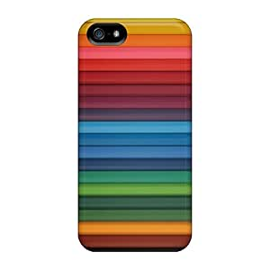 Defender Cases With Nice Appearance (rainbow Wide) For Iphone 5/5s