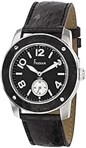 Free Look watch for Men - Analog Leather Band -Black, HA1712-1