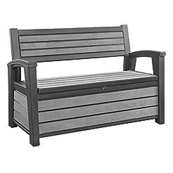 Keter Hudson Plastic Storage Bench Deck ...