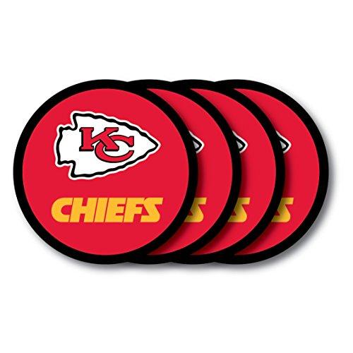 (NFL Kansas City Chiefs Vinyl Coaster Set (Pack of)