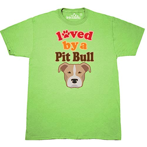inktastic - Pit Bull Terrier Dog Lover T-Shirt X-Large Key Lime 3206c ()