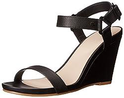 Lacoste Women's Karoly Wedge Sandal, Natural, 8 M US