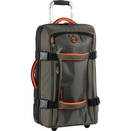 22 Wheeled Duffle (Timberland Luggage Twin Mountain 22 Inch Wheeled Duffle, Burnt Olive/Burnt Orange, One Size)