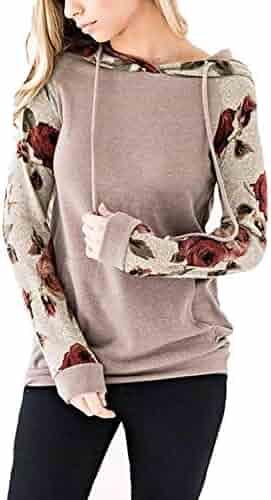 b511ee4f9e49 Alelly Minipeach Women's Pullover Long Sleeve Hoodies Coat Loose Casual  Sweatshirts with Pocket