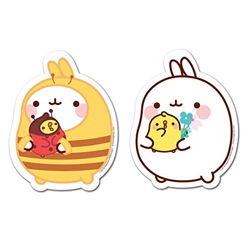 MOLANG Refrigerator Magnets - Bee Flower Set of 2